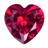 人造紅寶石 心型 HS 紅#5 3mm x 3mm