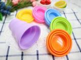 NG矽膠伸縮杯(杯口包鋼圈)附塑膠收納盒