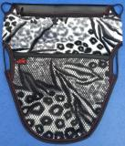 誠都牌-機車罝物袋-幾何圖形-氣質黑