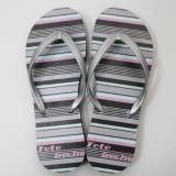 創意橡膠人字拖鞋 女款-亮彩線條|台製海灘拖 台灣製 人字拖 沙灘拖 夾腳拖 拖鞋 室內室外