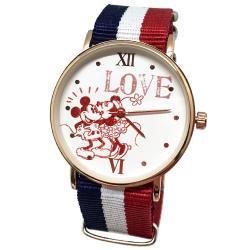 迪士尼超薄玫瑰金錶款-Love米奇米妮