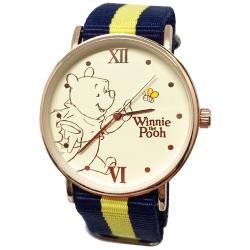迪士尼超薄玫瑰金錶款-小熊維尼