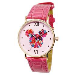 迪士尼超薄玫瑰金錶款-花漾米奇
