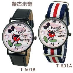 迪士尼超薄玫瑰金錶款-復古米奇