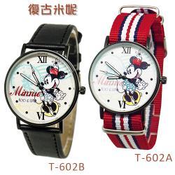 迪士尼超薄玫瑰金錶款-復古米妮