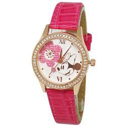[迪士尼] 水晶鑽腕錶-簡約米妮