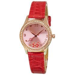 [迪士尼] 水晶鑽腕錶-我愛米妮
