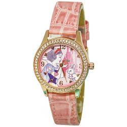[迪士尼] 水晶鑽腕錶-粉紅白雪