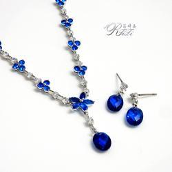 尖晶藍項鍊/耳環 僅此一套