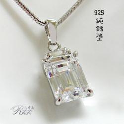925純銀典雅公主方墬鍊