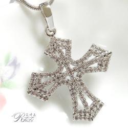 微鑲鑽十字架墬鍊-閃耀