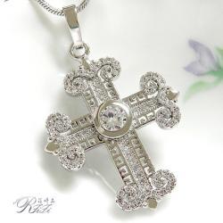 微鑲鑽十字架墬鍊-個性設計