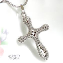 微鑲鑽十字架墬鍊-優美