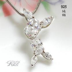 925純銀俏皮可愛女孩造型墬鍊