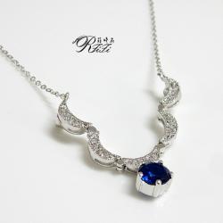 可變搭造型尖晶藍項鍊