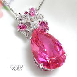 大型水滴鑽墬鍊-粉紅珍藏版 僅此一件
