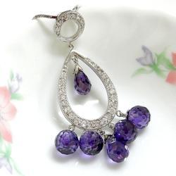 中國風紫色垂墬鍊-龜面設計 僅此一件