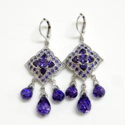 浪漫紫色耳環(耳針) 僅此一件