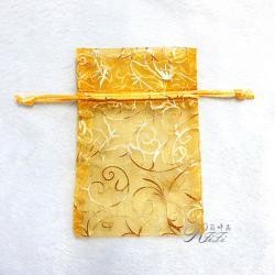 鳳尾燙金紗袋 金黃色