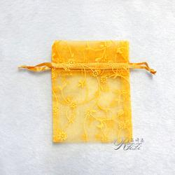 迷你紗袋 金黃色