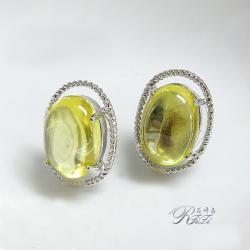 春綠色耳環(耳針)