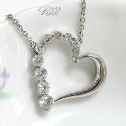 典雅心型鑲鑽項鍊
