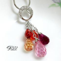 中國風水滴珠墬鍊-五色喜緣 僅此一件