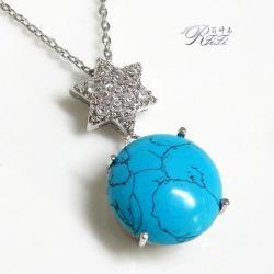 土耳其石六角星鑽墬子 僅此一件