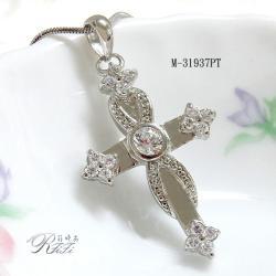 鑲鑽十字架墬鍊-榮譽之心 僅此一件