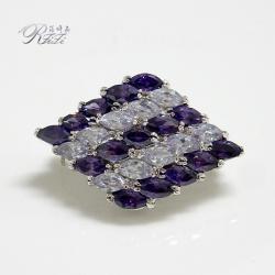 紫色愛戀典雅別針 僅此一件