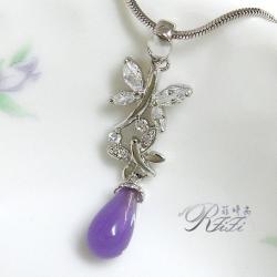 戀紫蝴蝶垂吊墬子 僅此一件