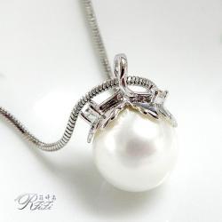 天然貝殼珍珠墬鍊-雙葉 僅此一件