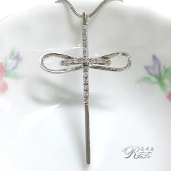 唯美線條十字架墬鍊