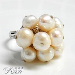 天然淡水珍珠時尚個性戒指 (可微調手圍)