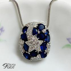 藍色星願墬鍊 僅此一件
