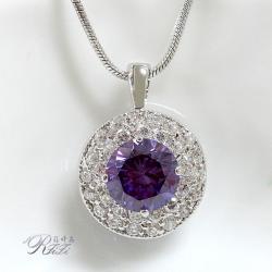 紫色圓鑽墬子 僅此一件