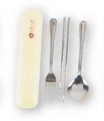 不鏽鋼筷匙叉組(三入)