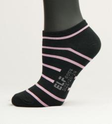 斑馬條紋船形女襪
