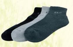 竹炭短筒氣墊襪