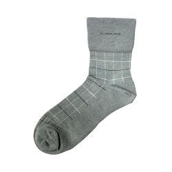 竹炭無痕方格健康襪