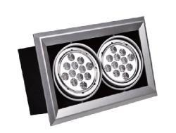 LED AR111雙燈方型嵌燈殼(光源另計)