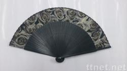 日式長骨絹扇