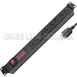 3孔8插延長線(附電壓、電流顯示器)