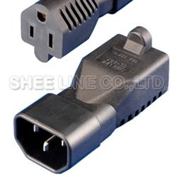 轉接頭-IEC公插轉美規母座
