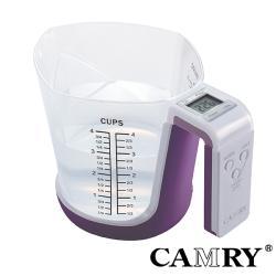 【CAMRY】多功能廚房電子秤(紫)|可做量杯 料理秤 烘焙秤 廚房秤 磅秤 迷你電子秤 計量器具