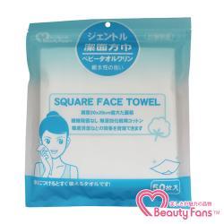 【BeautyFans】輕柔潔面方巾50枚